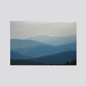 Blue Smokey Mountains #02 Rectangle Magnet