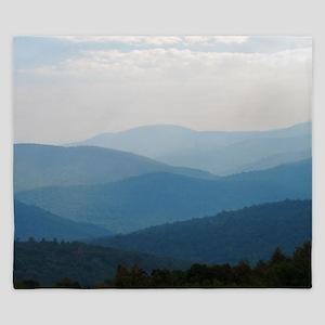 Blue Smokey Mountains #02 King Duvet