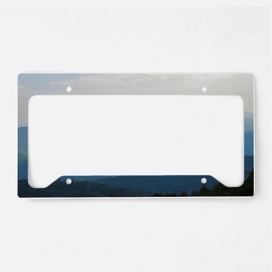 Blue Smokey Mountains #02 License Plate Holder
