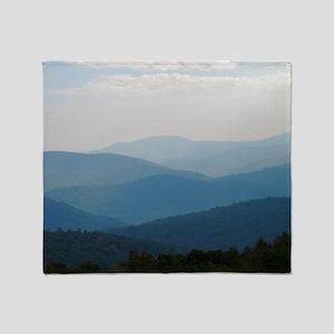 Blue Smokey Mountains #02 Throw Blanket