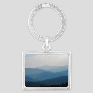Blue Smokey Mountains #02 Landscape Keychain