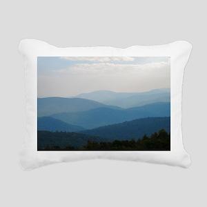 Blue Smokey Mountains #0 Rectangular Canvas Pillow