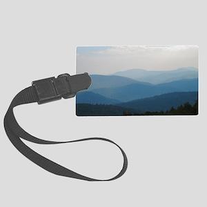 Blue Smokey Mountains #02 Large Luggage Tag