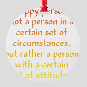 happy-person1 Round Ornament
