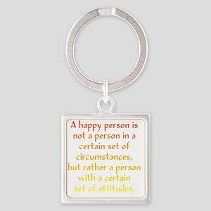 happy-person1 Square Keychain