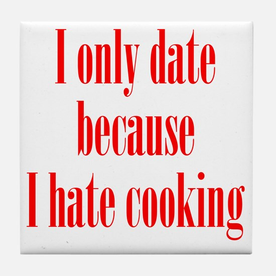 hate_cooking1 Tile Coaster