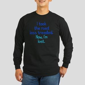 less-travelled_rnd1 Long Sleeve Dark T-Shirt