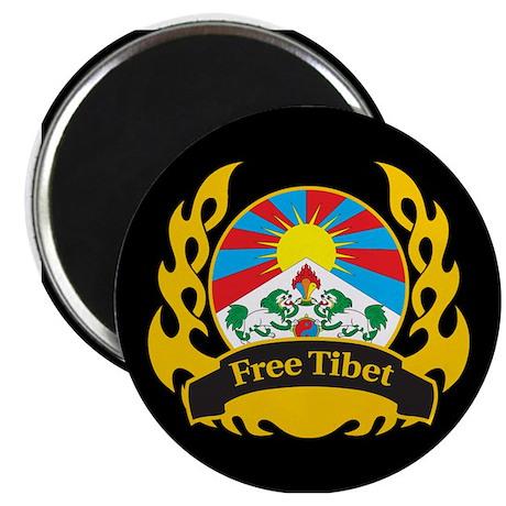 Flame Free Tibet Magnet