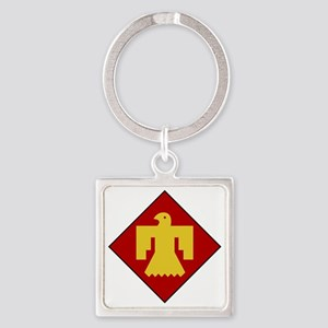45th Infantry Division Square Keychain