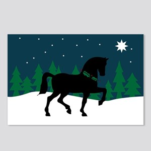 Black Horse Starry Night Postcards (Package of 8)