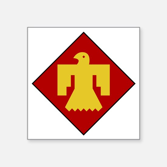 """45th Infantry Division Square Sticker 3"""" x 3"""""""
