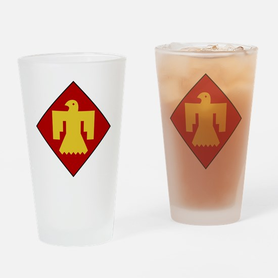 45th Infantry Division Drinking Glass