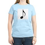 Traditional Basic Black Note Women's Pink T-Shirt
