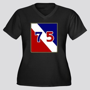 75th Infantr Women's Plus Size Dark V-Neck T-Shirt