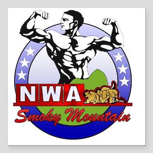 "NWA-Smoky-Mountain Square Car Magnet 3"" x 3"""