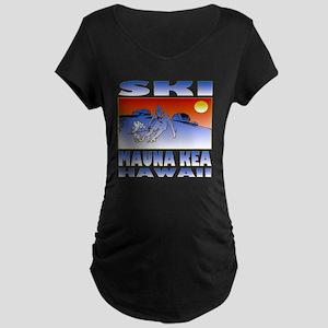 SKI MAUNA KEA Maternity Dark T-Shirt