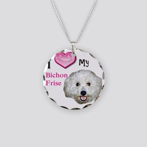 BichonFrise2 Necklace Circle Charm