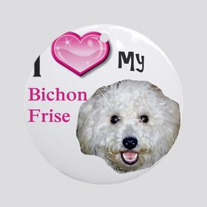 BichonFrise2 Round Ornament