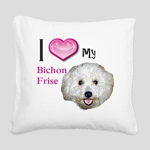 BichonFrise2 Square Canvas Pillow
