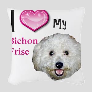 BichonFrise2 Woven Throw Pillow