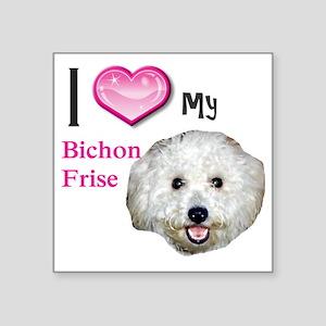 """BichonFrise2 Square Sticker 3"""" x 3"""""""