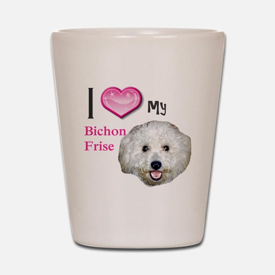 BichonFrise2 Shot Glass