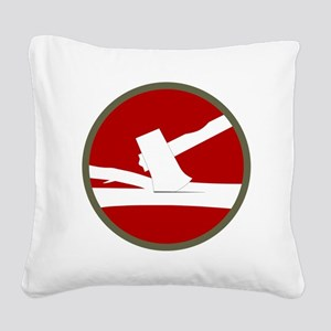 84th Infantry Division Square Canvas Pillow