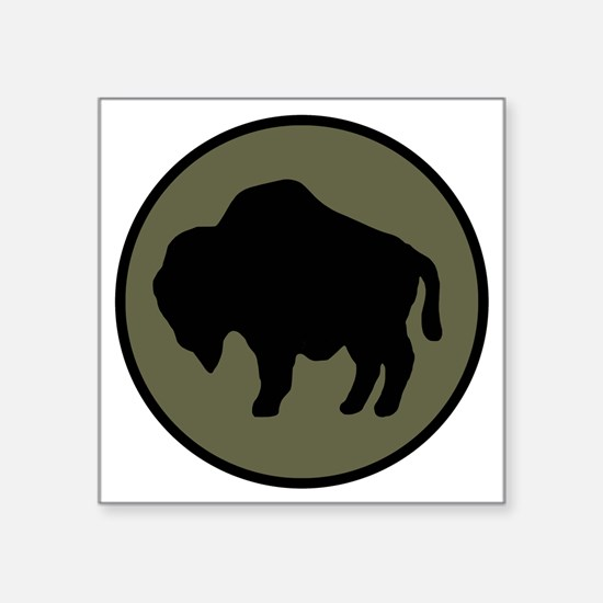 "92nd Infantry Division Square Sticker 3"" x 3"""