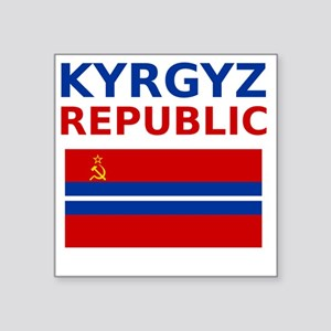 "Kyrgyz_SSR Square Sticker 3"" x 3"""