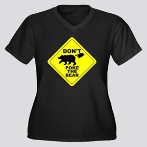 Dont Poke Th Women's Plus Size Dark V-Neck T-Shirt