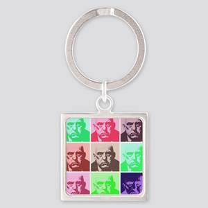 crowley large Square Keychain