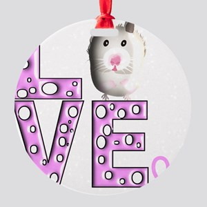 Hamster Round Ornament