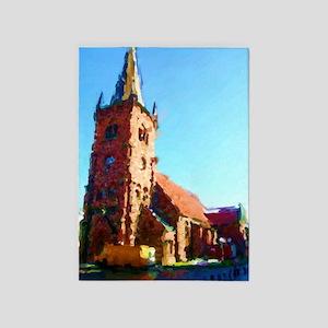 St. Nicolai Church Vejle 5'x7'Area Rug
