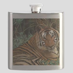 Tiger laying Flask