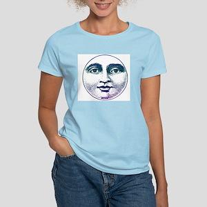 Man in the Moon Women's Pink T-Shirt