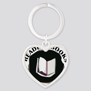 reading books is my superpower Heart Keychain