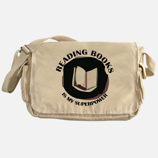 reading books is my superpower Messenger Bag
