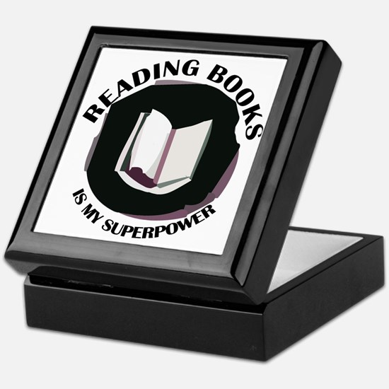 reading books is my superpower Keepsake Box