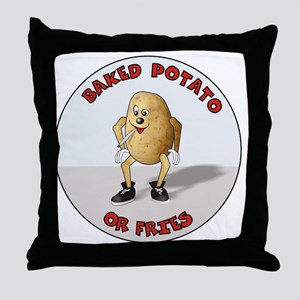 baked potato Throw Pillow
