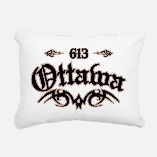 Ottawa 613 Rectangular Canvas Pillow