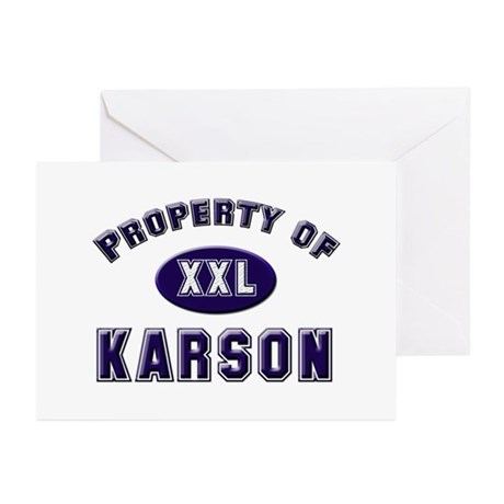 Property of karson Greeting Cards (Pk of 10)