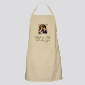 Mary was Pro-Life (vertical) Apron