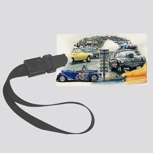 drag racing Large Luggage Tag