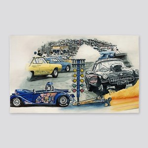 drag racing 3'x5' Area Rug