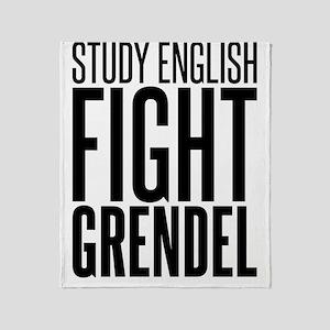 English grendel Throw Blanket