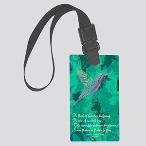 Humming Bird journal Large Luggage Tag