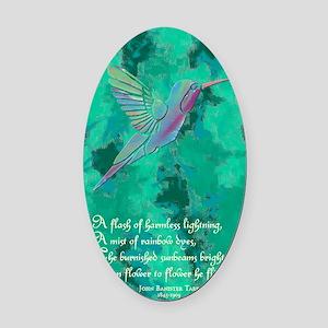 Humming Bird journal Oval Car Magnet