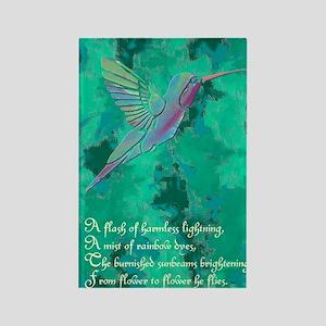 Humming Bird journal Rectangle Magnet
