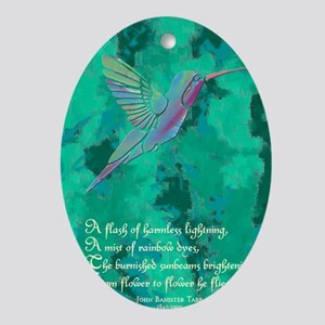 Humming Bird journal Oval Ornament