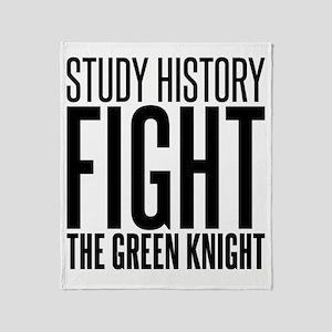 history green knight Throw Blanket